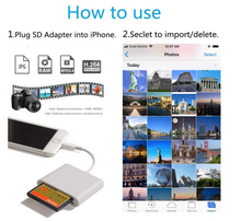 SD CF Card Reader for iPhone iPad iPad pro Camera Card Reader Adapter Memory