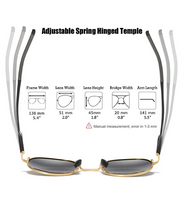 Small Round Sunglasses Polarized Lens Circle Frame Improved Spring Hinged