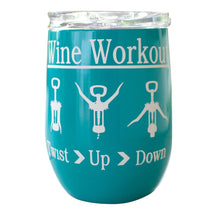 12 OZ Wine Tumbler Novelty Wine Workout Wall  Stainless Steel No Sweat