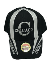 City Of Chicago Embroidered Baseball Cap Hat Adjustable Black One Size Fit New