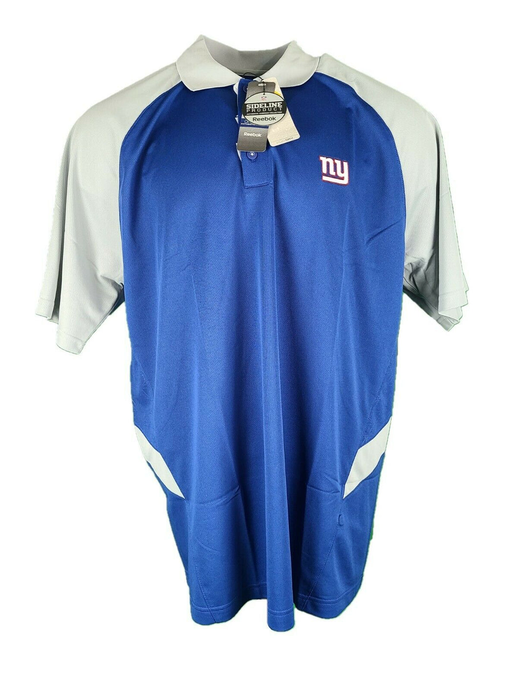New Authentic Reebok NFL New York Giants Football Shirt Gray And Blue With Tags