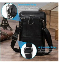 Leather Crossbody Shoulder Bags Men Belt Clip Phone Holsters Case Belt Loop