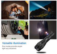 LED Tactical Flashlight [2 PACK] - S1000 High Lumen Handheld Light with 5 Modes