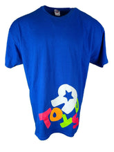 New Toys R Us Employee Staff T Shirt Men's 2 XL Graphic Logo Tee Royal Blue