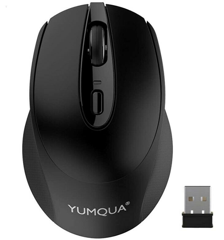 Computer Mouse Wireless, 2.4G Optical Silent Mouse with Nano USB Receiver