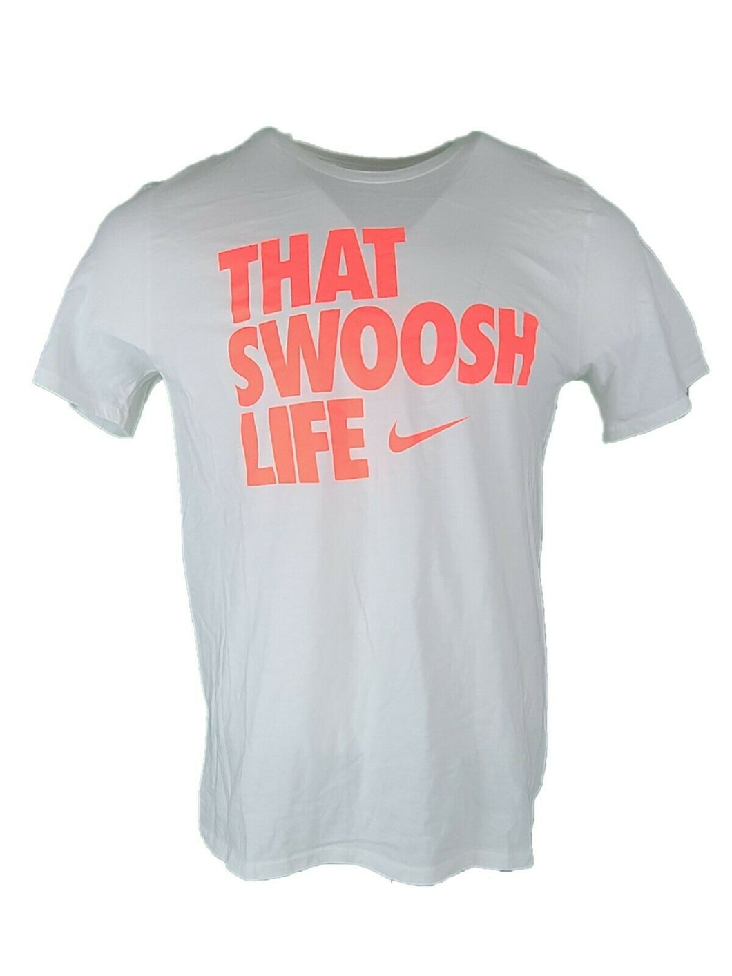New NIKE That Swoosh Life T-Shirt Athletic Cut  Large Gym Workout Running