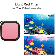 Dive Filter for DJI OSMO Action Camera Waterproof Case Accessories, 3 Pack Red