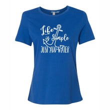 Life Is Simple Just Add Water Women's Short Sleeve T Shirt Casual And Cute Inspirational Graphics
