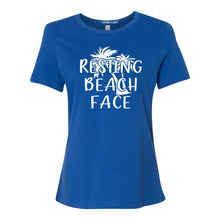 Resting Beach Face Women's Short Sleeve T Shirt Casual And Cute Inspirational Graphics