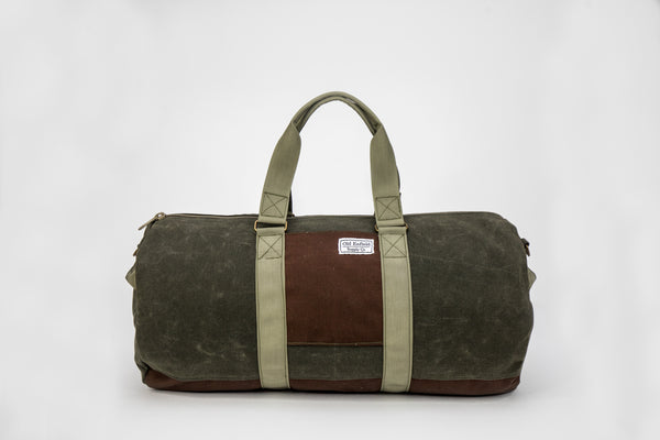 Green and Brown Canvas 48 Hour Weekender Bag