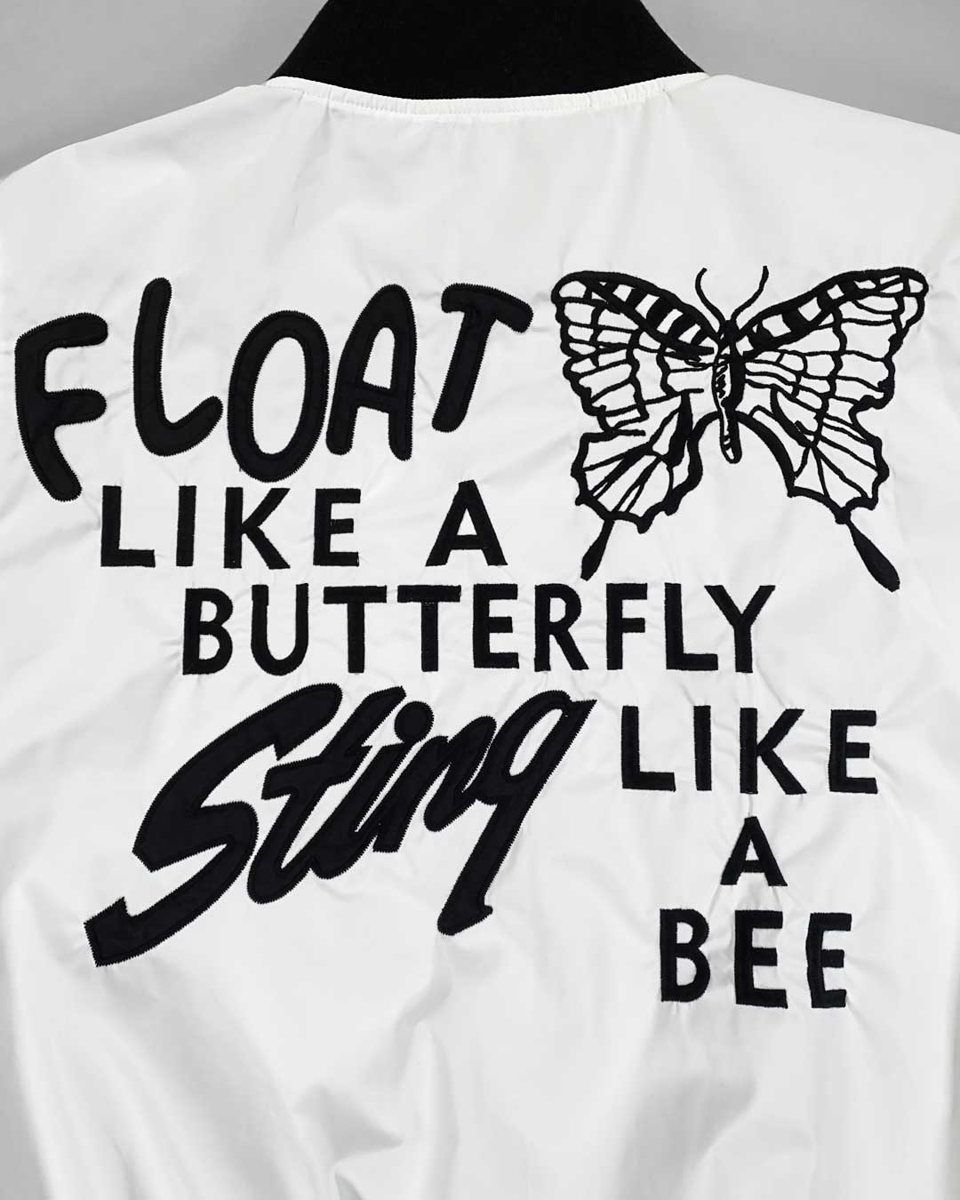 Ali Float Quote Stadium Jacket - Copasetic Clothing Ltd. dba Roots of Fight