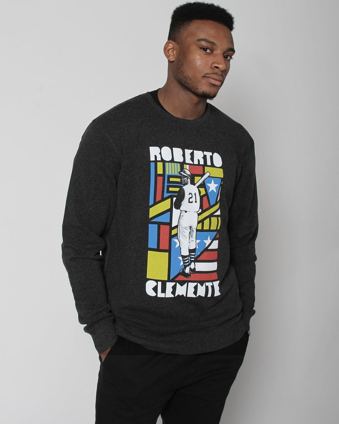 Roberto Clemente Sweatshirt - Roots of Inc dba Roots of Fight