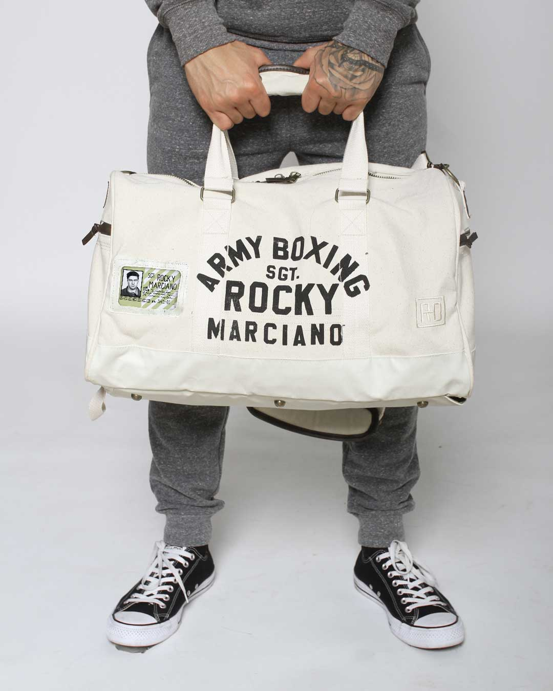 Rocky Marciano Army Boxing Duffle Bag - Copasetic Clothing Ltd. dba Roots of Fight