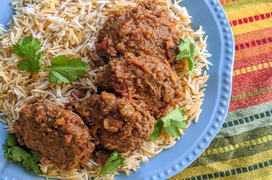 Afghan Cuisine Koofteh (Tender Spiced Meatballs) with Basmati Rice - Foodhini