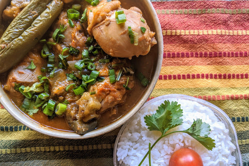 Ivorian Cuisine Chicken Kedjenou (Tender Chicken Stew) & Jasmine Rice - Foodhini