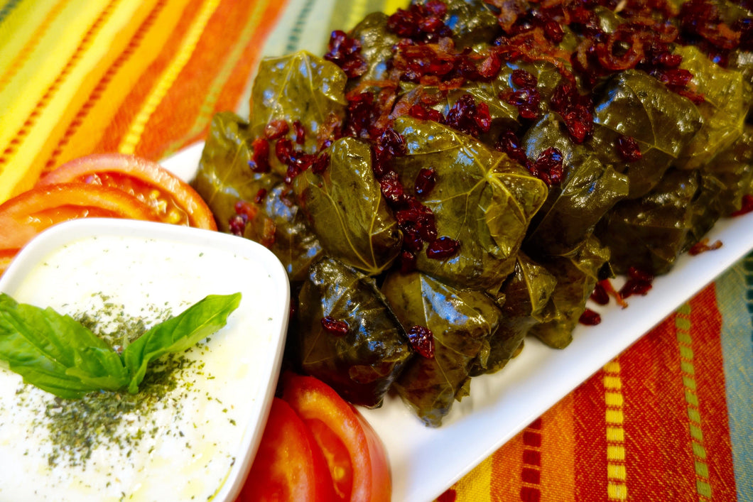 Iranian Cuisine Dolmeh Bargeh Mo (Tabrizi-Style Stuffed Grape Leaves) - Foodhini