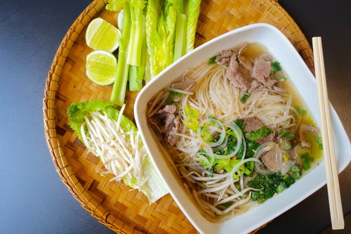 Homemade Beef Pho (Lao Style Noodle Soup)
