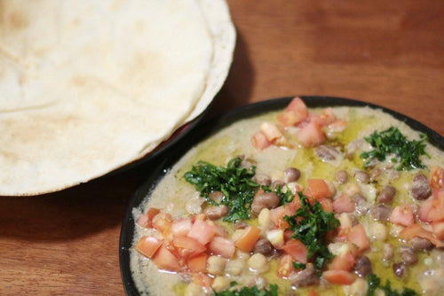 Ful Medames (Fava Beans Medley with Pita)