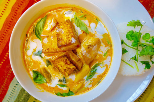 Lao Cuisine Vegan Tofu & Pumpkin Curry with Jasmine Rice - Foodhini