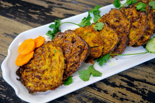 Zucchini & Carrot Kelewa (Sauteed Vegetable Cakes)