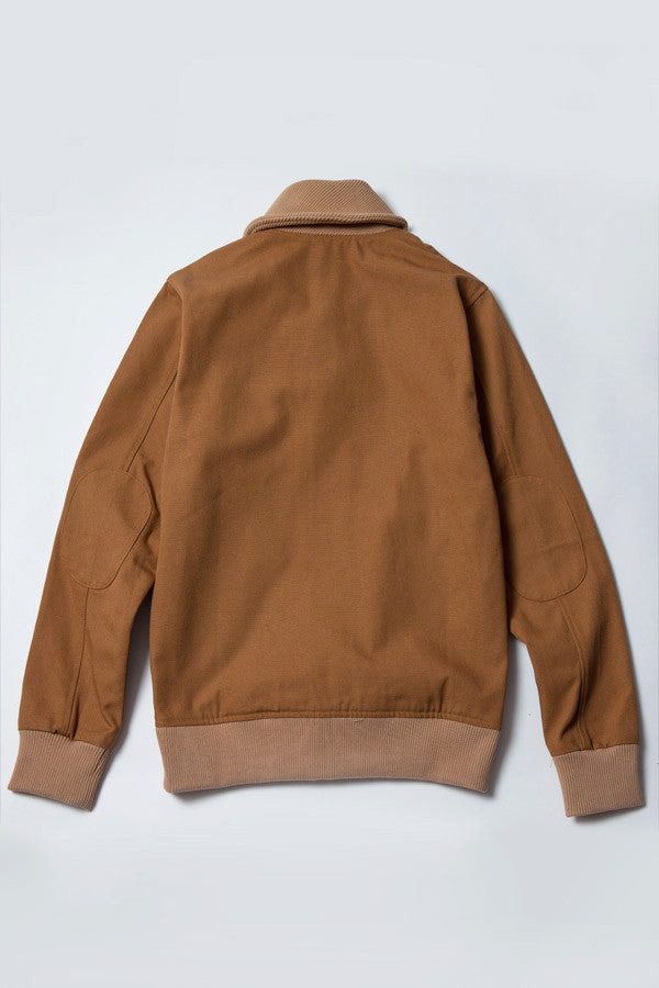 Gary Varsity Jacket - Tan Canvas