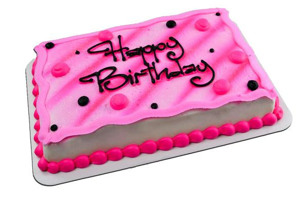 Polka Dot & Stripe Airbrush Cake