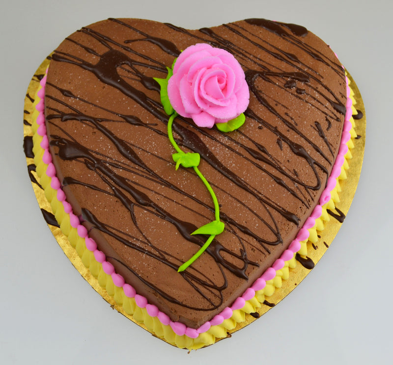 Ganache Heart with Rose