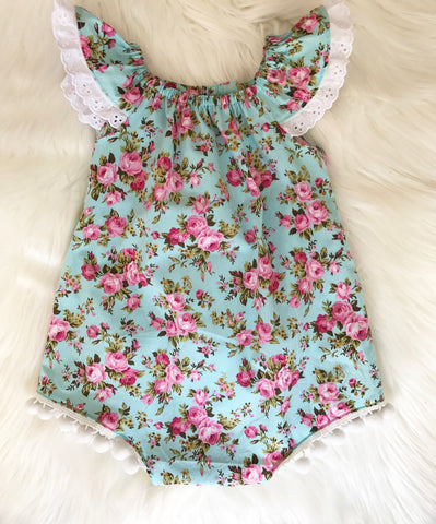 Seaside romper - blue floral