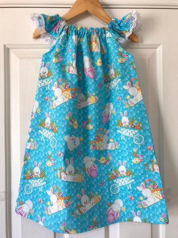 Seaside dress - blue Easter