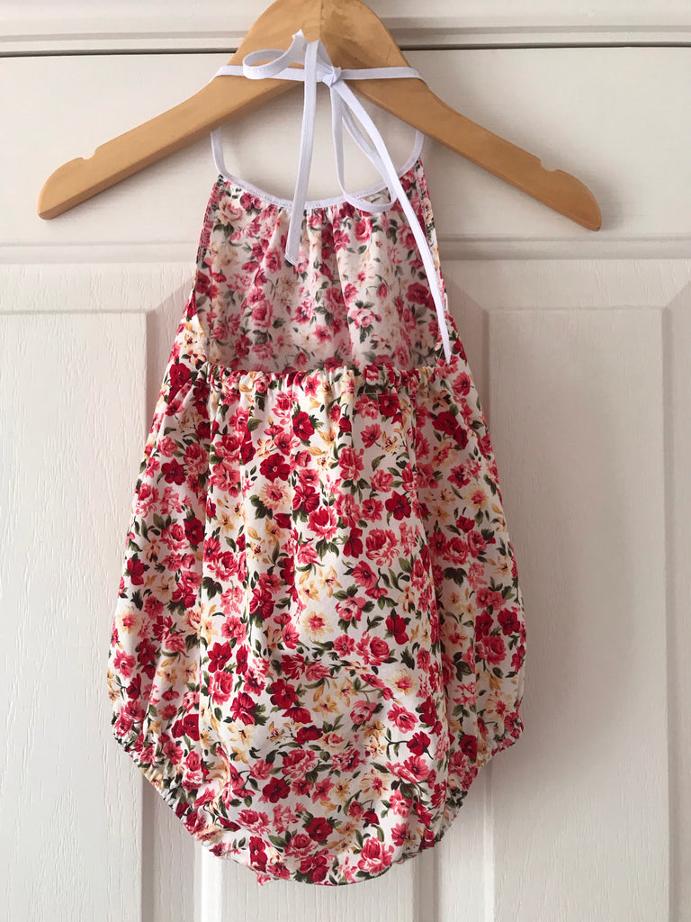 Darling romper - red floral