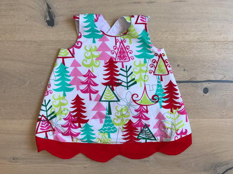 Summer Pinafore - Christmas tree