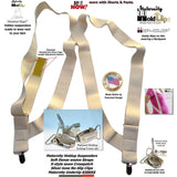 Holdup Maternity Undergarment side-clip Suspenders with Patented No-slip metal clips