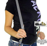 Hold-Ups Urban Youth Black and White Checkered Flag Suspenders with Y-back style