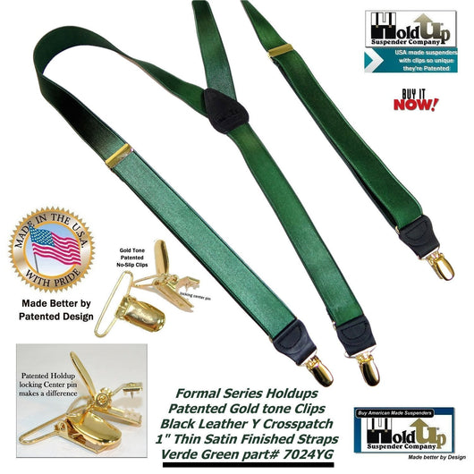 Holdup Suspender Company's Dark Green 1