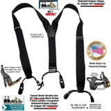 Holdup Black Pack Double-Up style XL sized Suspenders with Patented Gripper Clasps