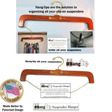 Hold-Ups Patented Hang-up Hardwood Suspender Hanger and Closet Organizer for Sus