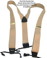 Hold-Ups Sand Dunes Light Tan Dual Clip Double-Ups Style w/ Patented No-slip Clips