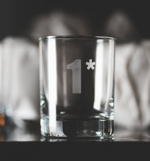 1* Send Me™ Etched Glass Tumbler
