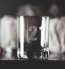 2* Send Me™ Etched Glass Tumbler