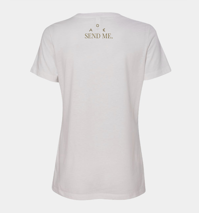 Send Me™ Athena Women's Tee - White
