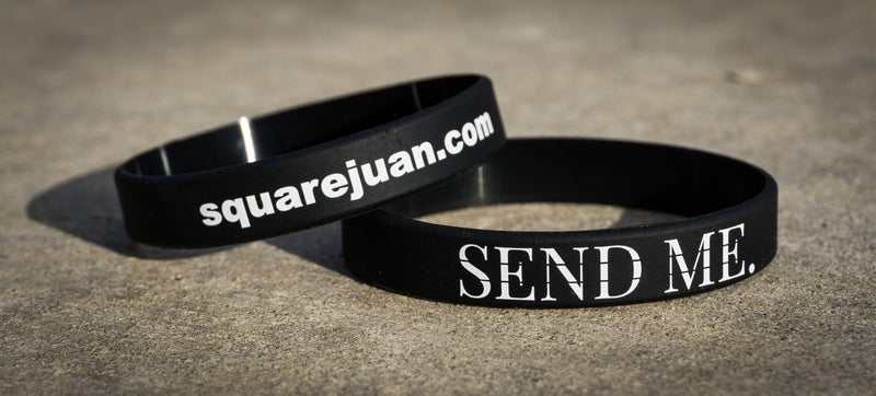 Squarejuan Send Me™ Thin White Line Wristband/Bracelet in support of EMS professionals around the world. Isaiah 6:8 #SendMe