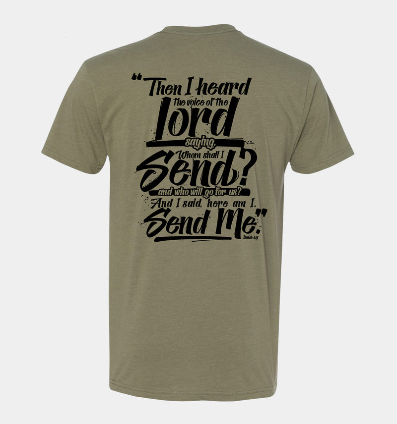 "Send Me™ Thin Green Line ""Messenger"" Tee (Light Olive)"
