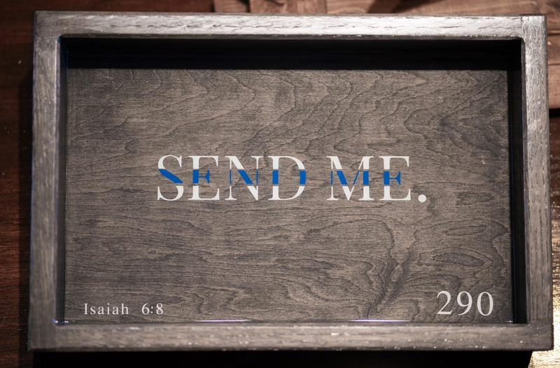 Send Me™ Handcrafted Wooden Tray