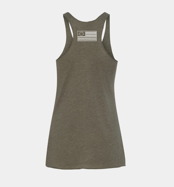 Send Me™ Freedom Women's Racerback - Military Green