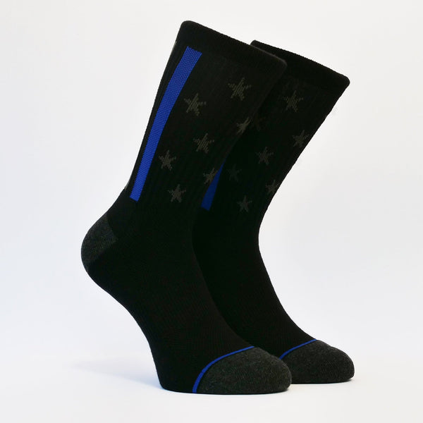 Thin Blue Line Socks - HUGS® Brand