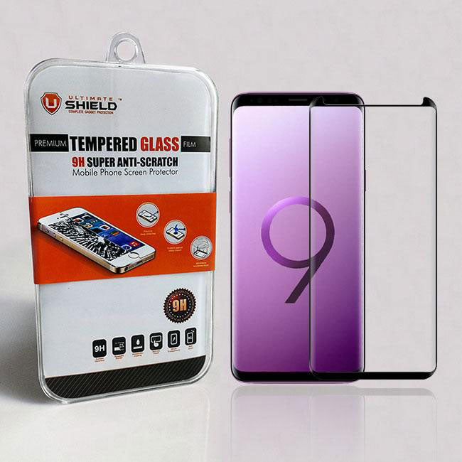 differently 3d4d4 1c307 Samsung Galaxy S9 Plus Tempered Glass Screen Protector (Case Friendly)