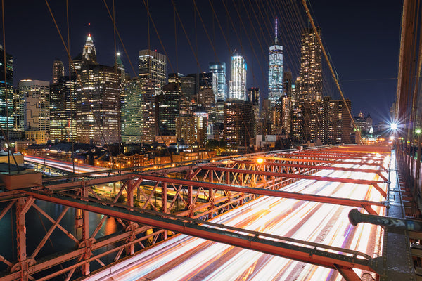 Brooklyn Bridge Car Trails