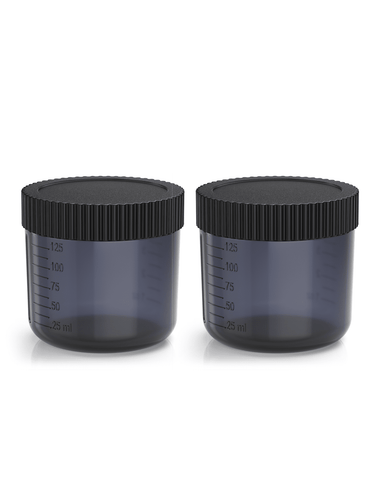 Excess 2 Tan.Cup 2 Pack inc Lids - Black Transparent