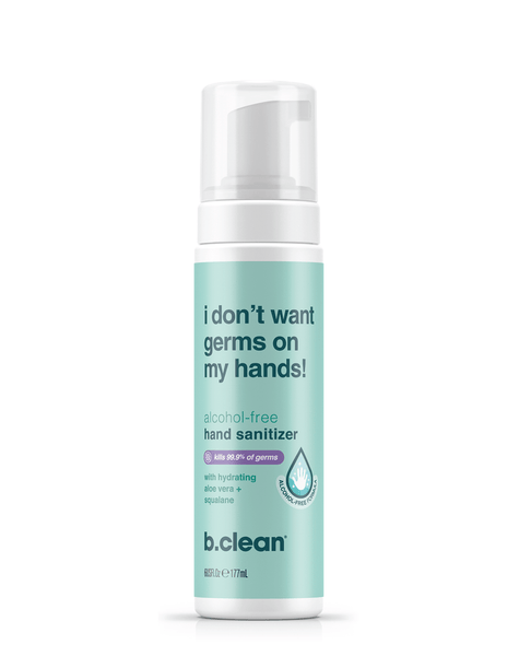 b.clean i don't want germs on my hands... hand sanitizer foam hand sanitizer foam