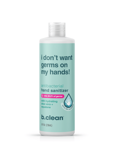 b.clean i don't want germs on my hands... hand sanitizer light gel (8 fl oz) hand sanitizer gel